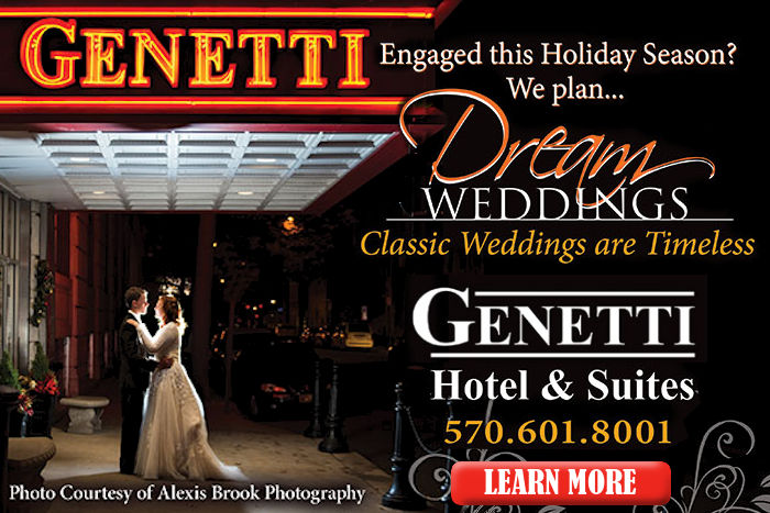 From the perfect proposal to the dreamiest honeymoon, Genetti Hotel provides the perfect backdrop for a wedding