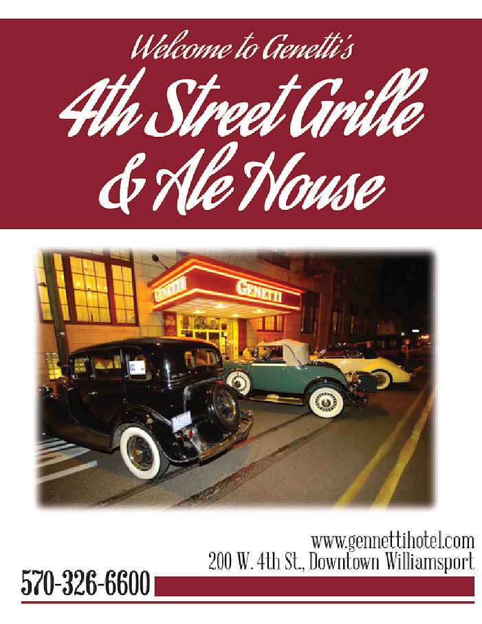 4th Street Grille and Ale House Menu - The Genetti Hotel